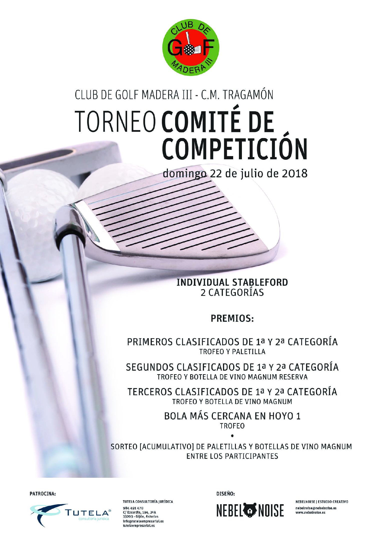 Cartel Golf Torneo Comite Competicion